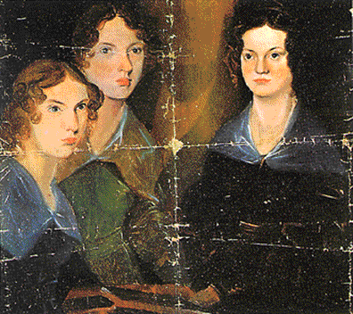 Na imaxe, Charlotte, Emily e Anne pintadas por P.B. Bront en 1834.