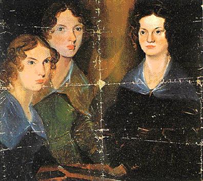 Na imaxe, Charlotte, Emily e Anne pintadas por P.B. Brontë en 1834.