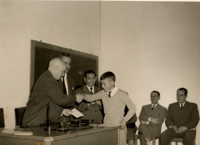 Apertura do curso 1955/56 no Instituto Laboral (I)